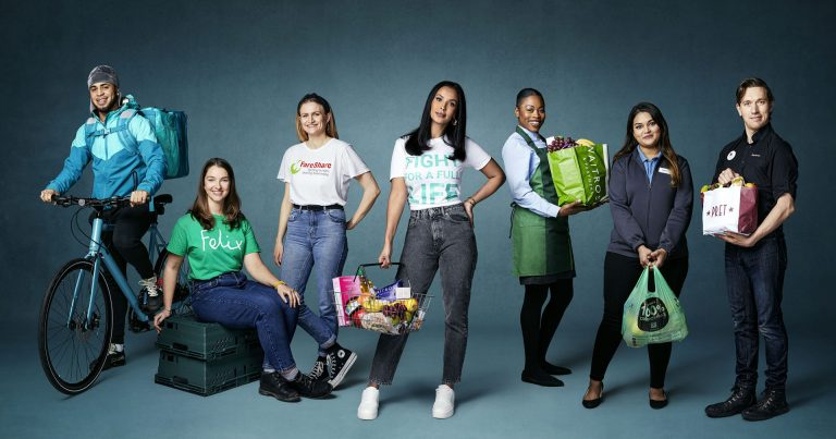 Maya Jama stands with partners for Deliveroo's 'Full Life' campaign to donate 1million meals to people in need